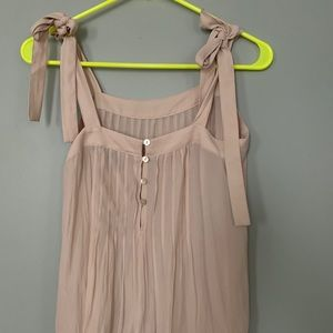 Forever 21 Tops - Beige blouse with tie sleeves